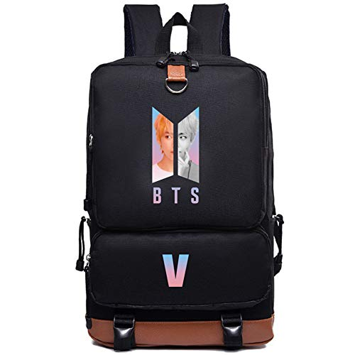 AOPOSTALL BTS V Casual Backpack Daypack Laptop Bag College Bag Book Bag School Bag for Girls (Laptop Bag V)