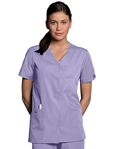 Cherokee Workwear Originals Women's Snap Front 2-Pocket Solid Scrub Top XX-Small (Cherokee Two Pocket Tunic)