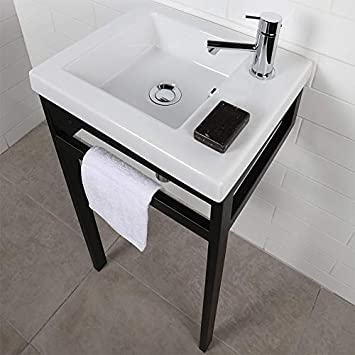 Wall Mount Vanity Top Or Self Rimming Porcelain Bathroom Sink With An Overflow No Faucet Holes W 15 3 4 D 13 3 4 H 5 3 4 White Amazon Com