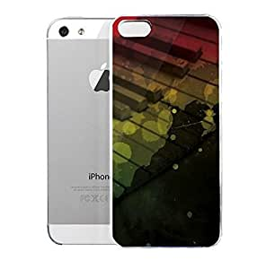 phone covers Light weight with strong PC plastic case for iPhone 5c Lifestyle Music Rasta Color Keys