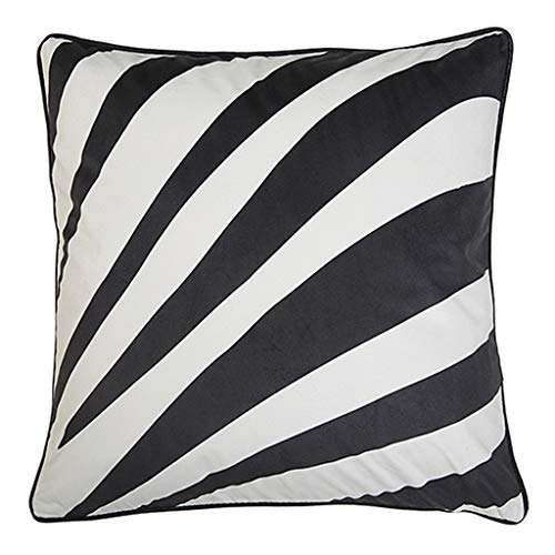 WaWei Sofa Cushion Pillow Black and White Zebra Velvet Print Model Room Waist Pillow Pillow Sofa Cushion Pillow (Size : ()