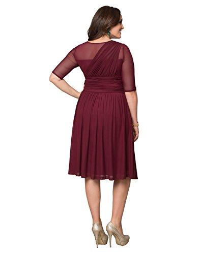 Kiyonna Women's Plus Size Modern Mesh Dress 5X Cranberry Crush