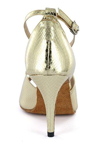 Tda Damesschoenen Peep Toe Stiletto Hoge Hak Gesp Salsa Tango Ballroom Latin Moderne Dans Trouwschoenen Baby Goud