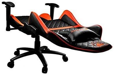 COUGAR - Silla de Juegos Ajustable, Color Negro y Naranja