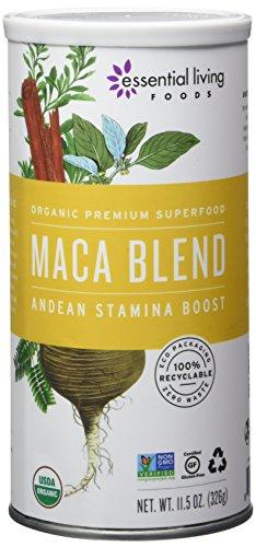 Essential vivant mélange de Maca, brut, 11,5 onces