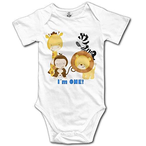 2018 Mats Jungle Safari 1st Birthday Short Sleeve Infant Onesie Bodysuit in 4 Sizes 24 Months
