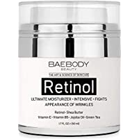 Baebody Retinol Moisturizer Cream for Face and Eye Area Fights the Appearance of Wrinkles, Fine Lines