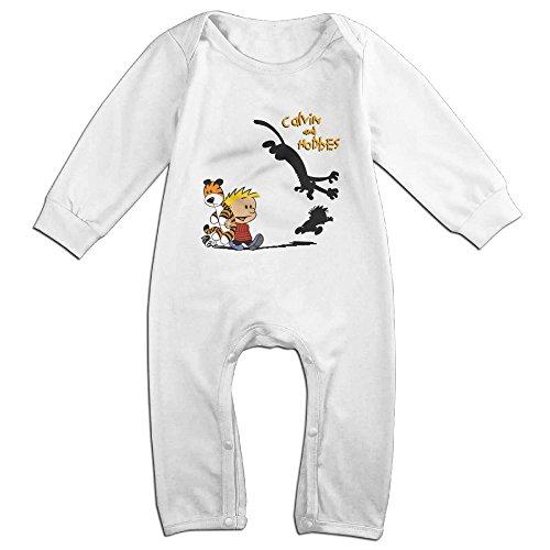- IMMAZM Baby Bodysuit Thomas Hobbes Tiger Calvin And Hobbes Long-Sleeve Romper T-Shirt White 6 M