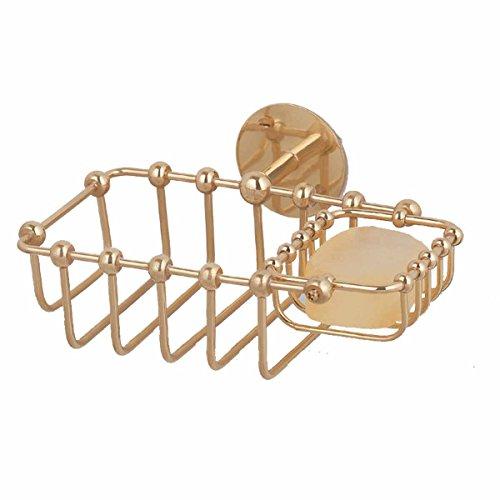 RENOVATOR'S SUPPLY Soap Dishes Bright Brass Soap Basket W...