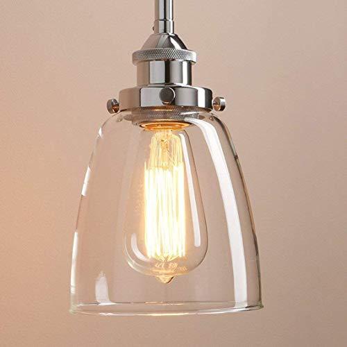 Lámpara Estilo Retra Colgante Luz E27 Lámpara de Luz Casquillo Luz Cristal 40W Lámpara Vintage Transparente Glighone Colgante Industrial Techo de tdrCshQ