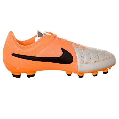 Nike Kids Jr Tiempo Genio Leather FG Desert Sand/Black/ATMC Orange Soccer Cleat 1.5 Kids US