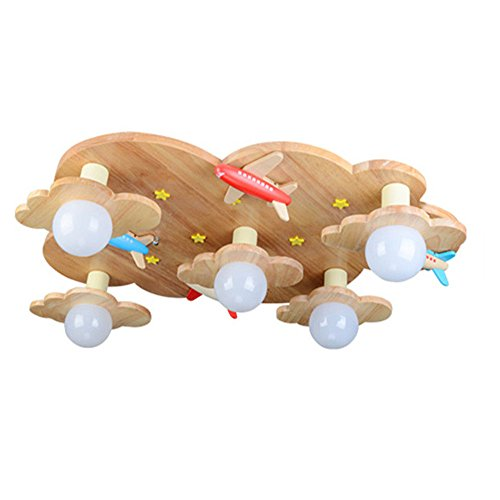 Wood Body Puzzle (Ceiling Lights Children Room Bedrooms Lights Wooden Lamps for Men and Girls LED Japanese Wood Light Nordic Wood Ceiling Lights 71X15CM)