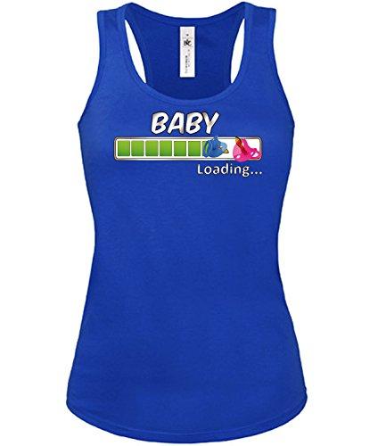 Comedy - Baby Loading mujer camiseta Tamaño S to XXL varios colores S-XL Azul
