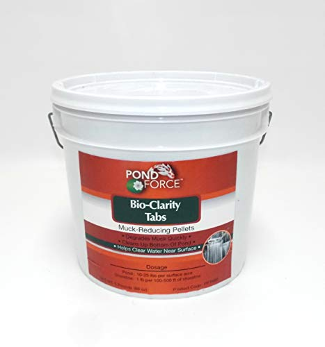 Pond Force BIO-CLARITY MUCK TABS 5 Pounds - Pellets Control Sludge and Muck in Medium and Large Ponds, Add Beneficial Bacteria ()