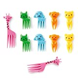 KAISHANE Cartoon Animal Fruit Picks Forks for Kids Child 10pcs Lunch Box Accessory Decor Tool