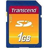 Transcend 1 GB SD Flash Memory Card TS1GSDC