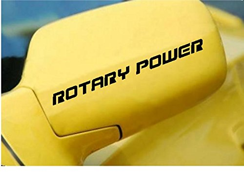 (StickerLoaf Brand ROTARY POWER Decal Racing Side mirror door Decals race car tuner Sticker Stickers mazda rotary engine wankel rx7 rx8 mazdaspeed ANY COLOR)