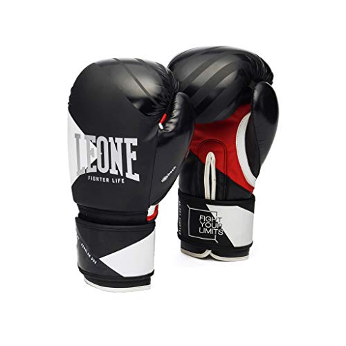 Boxing Fighter - LEONE 1947 Boxing Gloves Fighter Life (Black, 10oz)