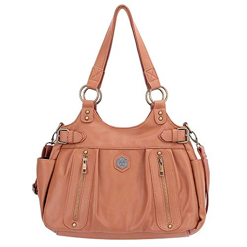 - Women Leather Shoulder Handbags (Caramel)