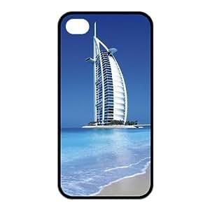 Custom Dubai Burj Al Arab Design TPU Case Protector For Iphone 4 4S