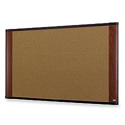 3M 36 x 24 Cork Board, Mahogany Finish Frame (C3624MY)