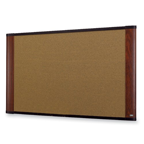 36 Finish (3M Cork Board, Widescreen,  Mahogany-Finish, 48 x 36 Inches (C4836MY))