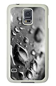 Customized Samsung Galaxy S5 White Edge PC Phone Cases - Personalized Drops Of Water Black And White Cover