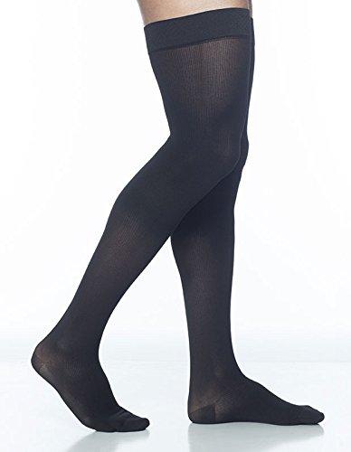 Sigvaris Midtown Microfiber 822NLLM99 20-30 mmHg Mens Thigh, Large, Long – Black