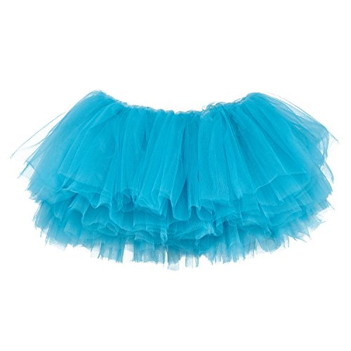 My Lello Little Girls 10-Layer Short Ballet Tulle Tutu Skirt (4 mo. - 3T) -Turquoise by My Lello