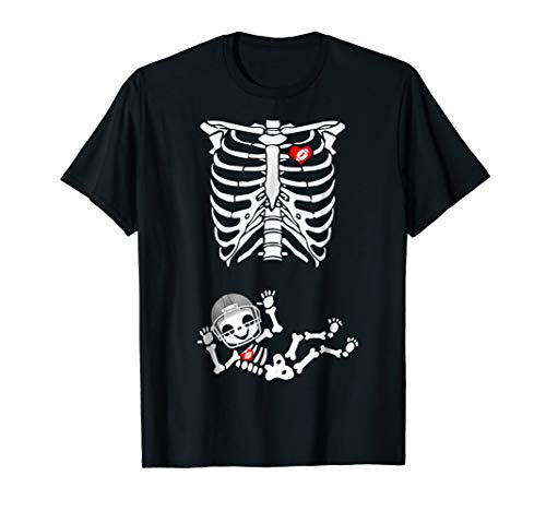 Halloween Mother-to-be Skeleton Rugby Baby Costume T-Shirt ()