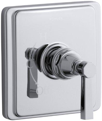 KOHLER K-T13135-4A-CP Pinstripe Pure Rite-Temp Pressure-Balancing Valve Trim, Polished Chrome