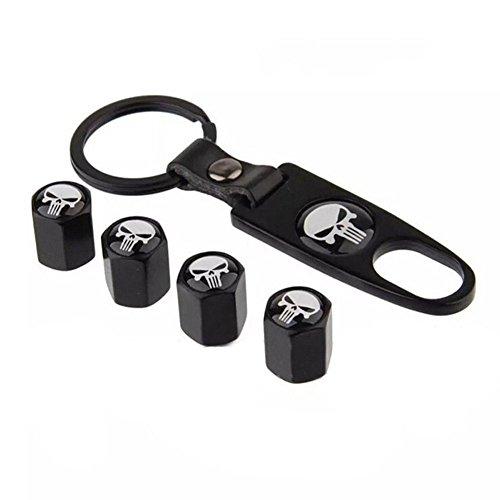 Generic Car Wheel Tyre Tire Stem Air Valve Caps Key Chain Set by Generic