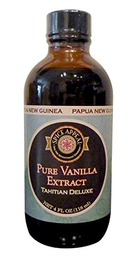 Spice Appeal Papua New Guinea Pure Vanilla Extract, Tahitian Deluxe, 4 ()
