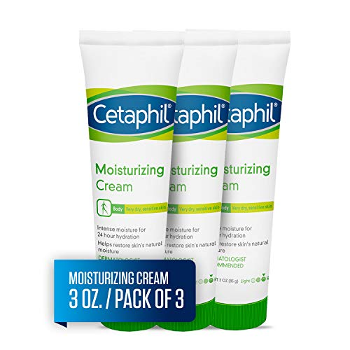 (Cetaphil Moisturizing Cream for Very Dry, Sensitive Skin, Extra Strength, Fragrance Free, 3 oz. (Pack of 3))