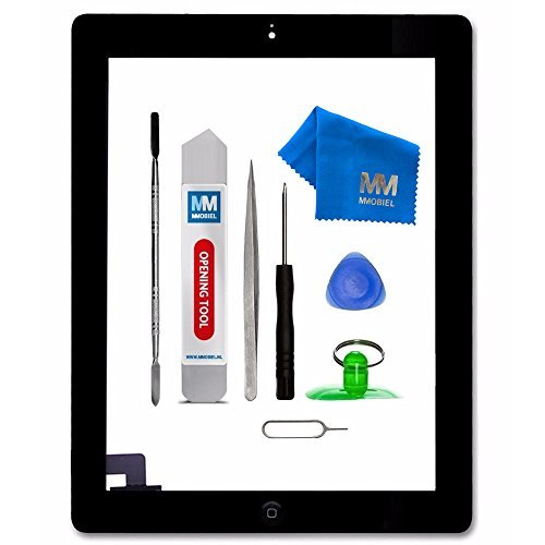 Display Bezel Kit - MMOBIEL Digitizer Compatible with iPad 2 (Black) 9.7 Inch Touchscreen Front Display Assembly Incl Tool kit
