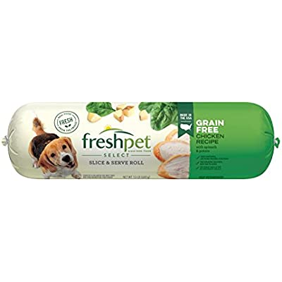 Freshpet Healthy & Natural Dog Food, Fresh Grain Free Chicken Roll, 1.5lb