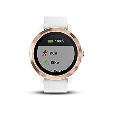 Garmin 010-01769-09 vívoactive 3, GPS Smartwatch with Contactless Payments and Built-in Sports Apps, White/Rose Gold