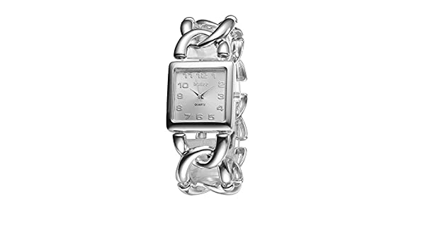 Amazon.com: Fashion Exquisitely Vintage Thick Chain Womens Ladies quartz Wrist Watches Gift Silver: Watches