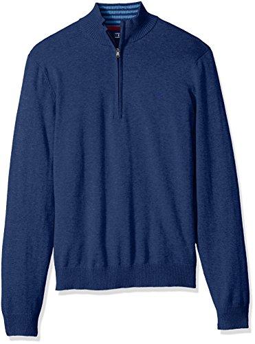 1/4 Zip Cotton Sweater - 1