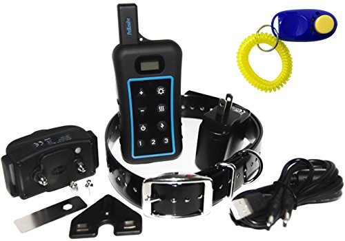 Pet Resolve Dog Training Collar with Remote - Trains up to 3 Dogs at Once - Shock, Vibration and Beep Modes - Up to 3/4 Mile Range - Waterproof Electric E Collar
