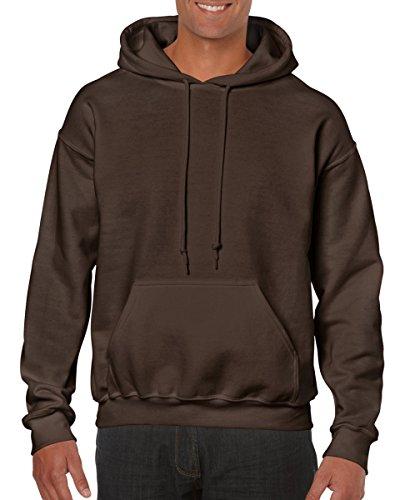 (Gildan Men's Heavy Blend Drawcord Hooded Sweatshirt - Large - Dark Chocolate)