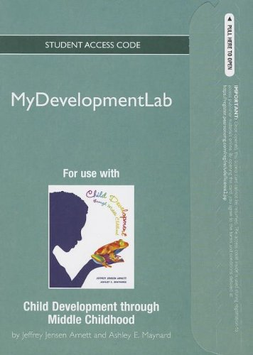 NEW MyDevelopmentLab -- Standalone Access Card -- Child Development through Middle Childhood: A Cultural Approach (Mydev