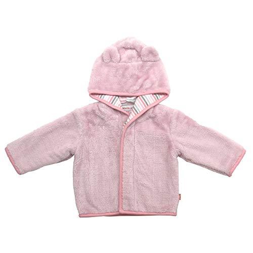 (Magnetic Me Baby Bear Minky Fleece Magnetic Hooded Jacket Peony Pink)