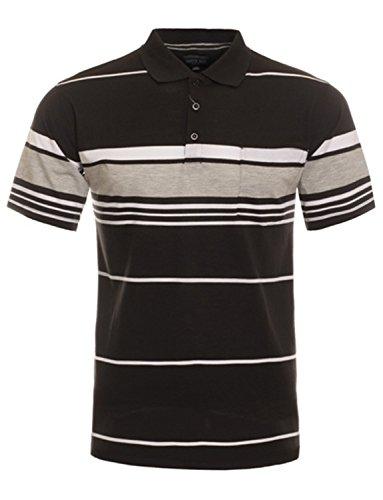 Shirt Classic Stripe Mens (NE PEOPLE Men's Everyday Basic Stripe Polo T-Shirts)