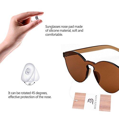 UV400 Gato de ojo Eyewear BOZEVON Marrón del Color del el Integraron Caramelo de Integradas C2 Gafas del Las Eyewear Unisex xB0qwp74