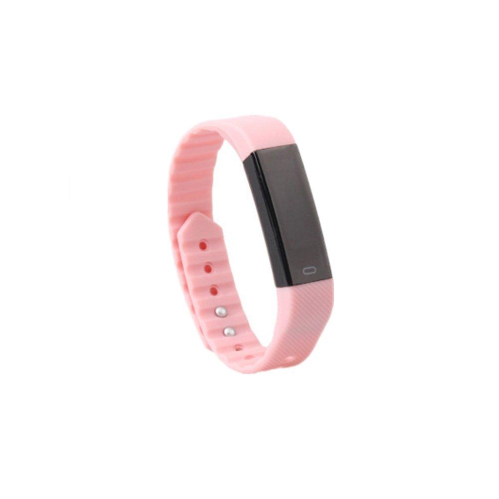 shengpin SHP Smart Fitness Tracker、Smart Watch with Sleep Monitor Bluetooth 4.0防水スマートリストバンドブレスレットスポーツ歩数計Activity Tracker withアラームクロック/ステップトラッカー/カロリー B07DGP12HF  ピンク