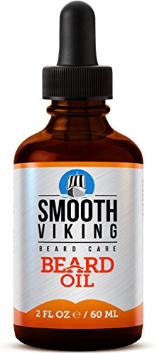 Smooth Viking Beard Oil for Men, Conditions and Promotes Growth for Soft and Itch-free Facial Hair, Leave-in, Argan Oil Formula Grooms Beard and Mustache and Soothes Dry Skin, 2 ounces
