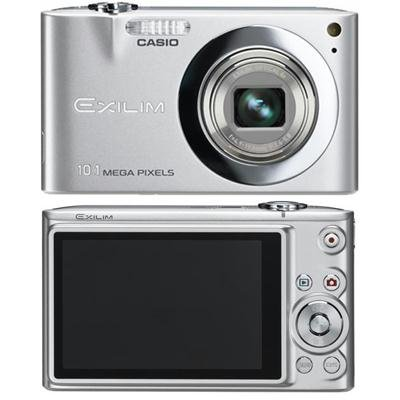 Casio Exilim EX-Z100 10.1 MP with 4x Optical Zoom Compact Digital Camera (Silver)