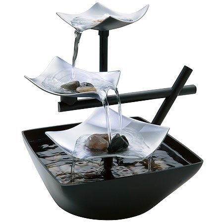 Three Layers of Streaming Water Relaxation Fountain