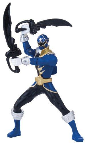 "Power Rangers Super Megaforce - 6.5"" Double Battle Action Blue Ranger Action Figure, Glow in The Dark"